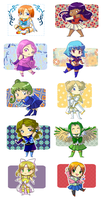 Contest Prizes: WALL OF CHIBI by It-is-a-circle