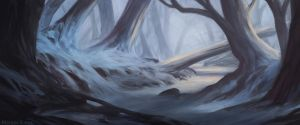 Snowy forest by Narholt
