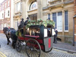 Carriage rides Hull High Street 30th November 2013 by Cavyman