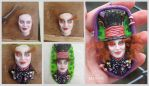 The Mad Hatter... step by step by imge