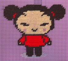 Needlepoint Pucca by missy-tannenbaum