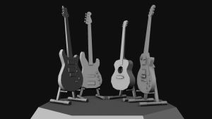 Low Poly Guitar by global99