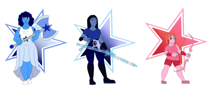 Crystal gems by MetalWing15