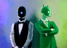 iPhone vs Android by Bleson