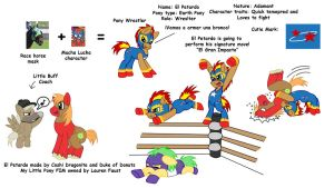 My Little Pony FIM Pony Wrestl by Coshi-Dragonite