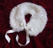 White Faux Fur Collar by rascalkosher