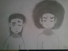 Riley and Huey Freeman by totya0108