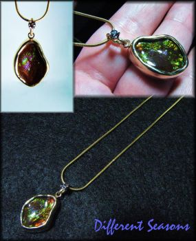 Fire Agate and Alexandrite by jessa1155