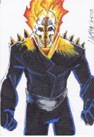 Ghost Rider sketch card by LangleyEffect