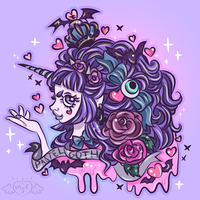 Pastel Goth Queen by MissJediflip