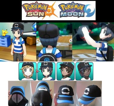 Pokemon Sun And Moon Starter Hat by SailorUsagiChan