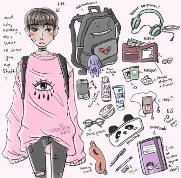 Changkyun what's in your bag by FFairyy