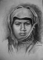 Girl in graphite by bibiaan
