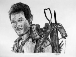 Daryl Dixon Drawing - The Walking Dead Fan Art by LethalChris