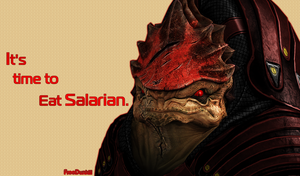 Mass Effect 3 Wallpaper Urdnot Wrex by FREEDUNHILL