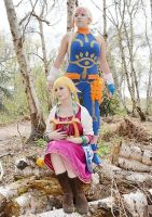 Zelda and Impa in the Faron Woods by Tif9123