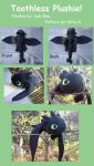 HTTYD: Toothless Plush by SakiRee