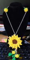 Sunflower Necklace by MayEbony