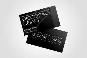 Cocktails Bars Business Cards by Clawdiu