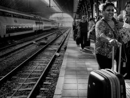 Amsterdam Train Station by PatrickMonnier