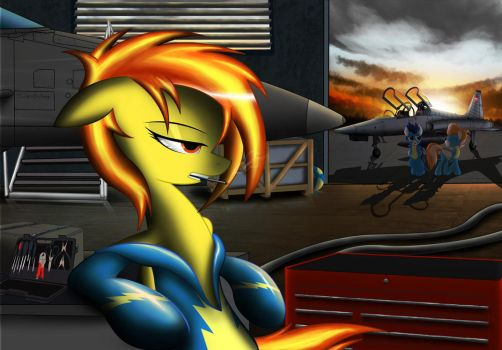 Hanging out in the hangar by Spitshy