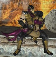 Scorpion with Mileena by ShaoKahnsSlaveLilith