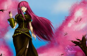 Megurine-Luka-the-sakura-ride by rextrom