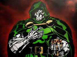 Dr. Doom Painting by Gcrackle1