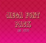Mega Font Pack by JewElf