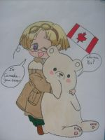 Canada and Kumajiro by anime-mega-fan