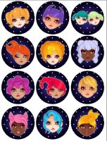 Tutorial: Zodiac Cuties by marywinkler