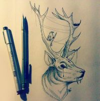 Deer Tattoo by MaryMaryLP