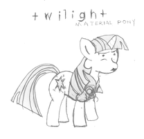 Day 3 - Twilight Sparkle - Material Pony by littlecolt