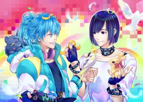 Happy Birthday to AOBA and SEI! by sleeping-pig