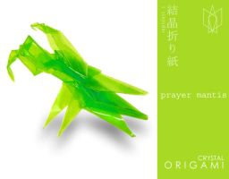 crystal origami series I: prayer mantis by reptilest