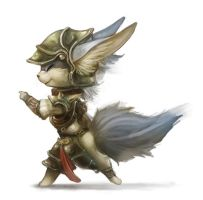 Random catfox warrior by Silverfox5213