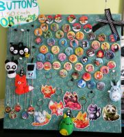 button board/keychains done! by michellescribbles