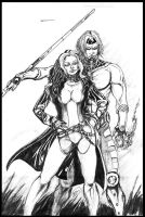 Rogue and Gambit by BSarilar