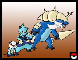 Oshawott Family by ZappaZee