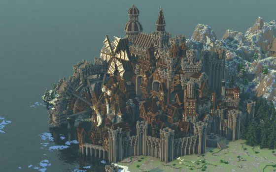 Conderial - A Steampunk-Medieval city by Notux