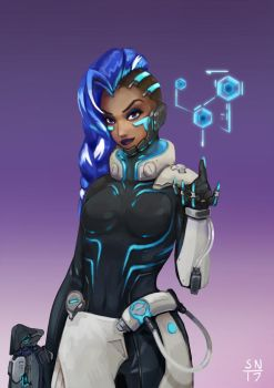 Sombra: Cyberspace (link to animated version) by AdaptableSimon