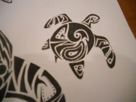 Sea Turtle Tribal Tattoo by mikaylamettler