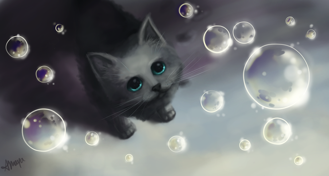 Bubbles Kitten by xtwistedxamayax