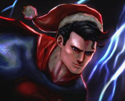 Merry Christmas from Superman! by JoshuaFDTS
