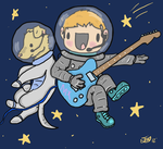 Spaceplay... Jonny buckland in space by The-Investigators