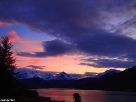 sunset at Moore,Norway by EiAndersen
