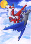 Latios and Latias by venomous-cupcake