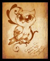 Owl tattoo by Baby-Goat