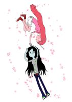 Marceline and Bubblegum by elyon-van-marie