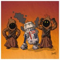 R5D4 and the Jawas by stayte-of-the-art